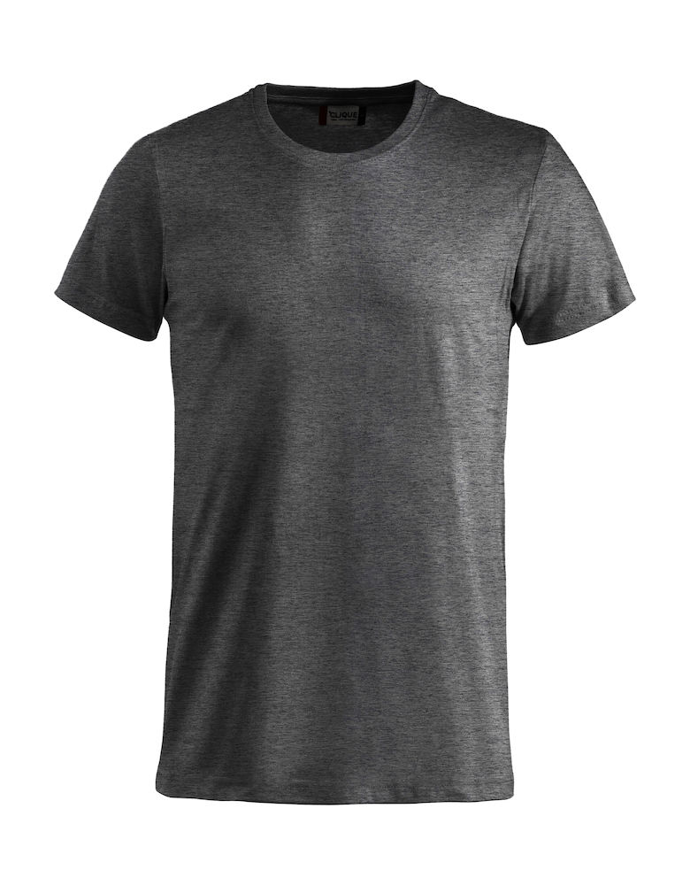 Basic T-shirt antraciet melange