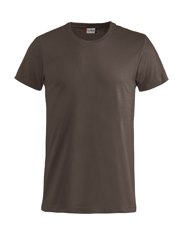 Basic T-shirt dark mocca