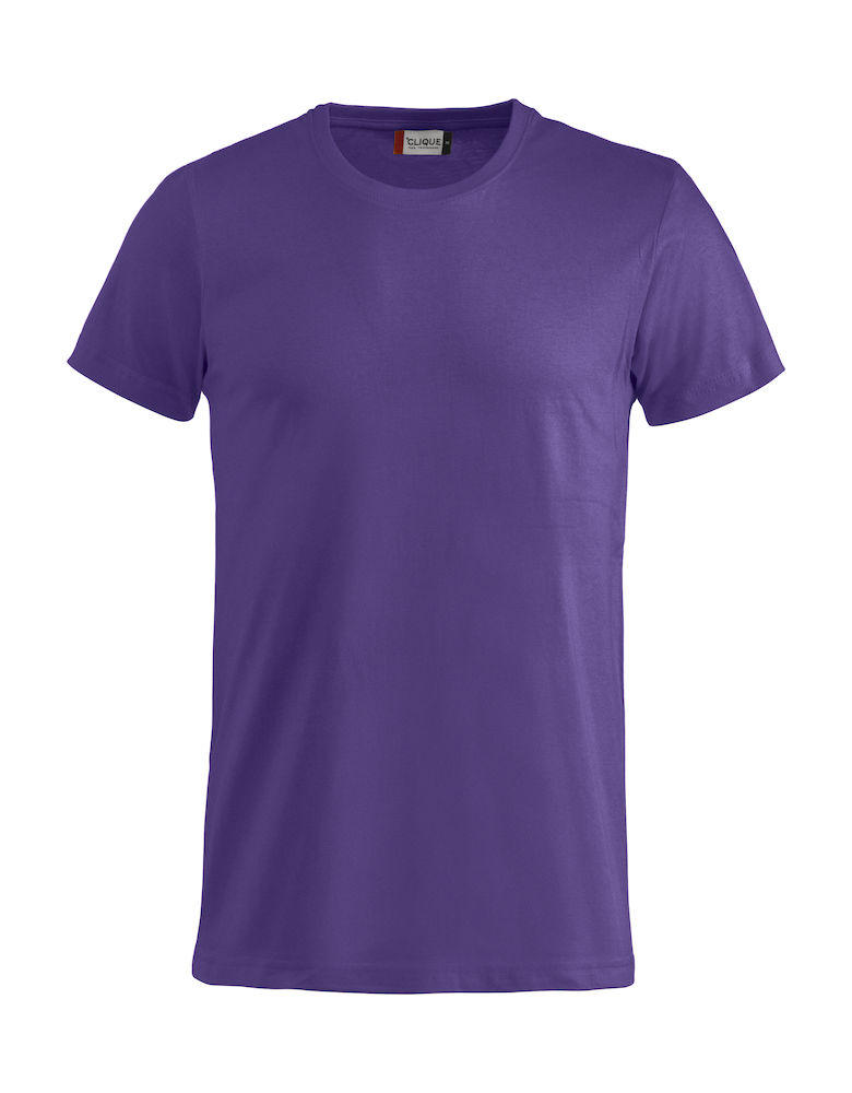 Basic T-shirt helder-lila