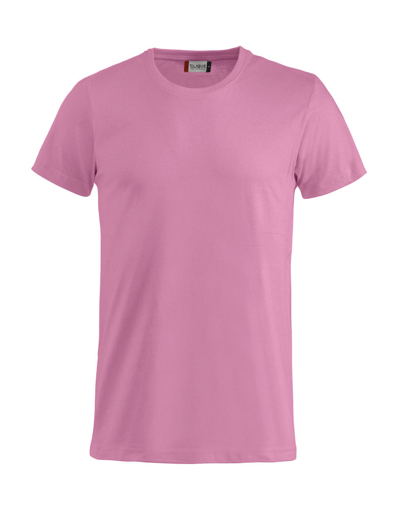 Basic T-shirt helder-roze