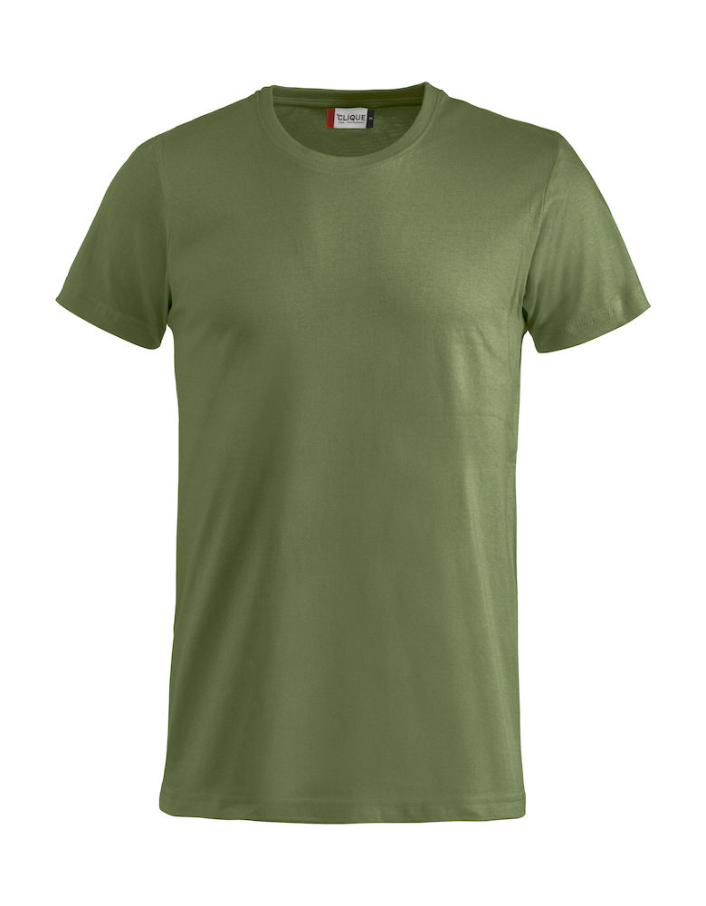 Basic T-shirt legergroen