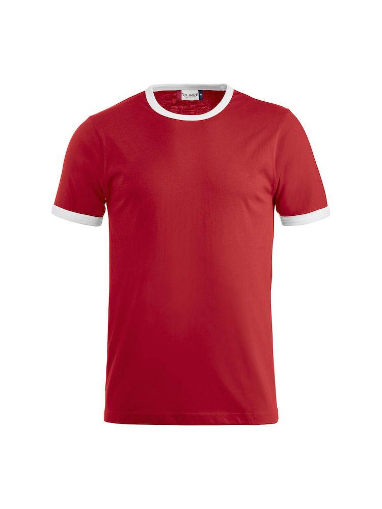 Classic Nome T-shirt rood/wit