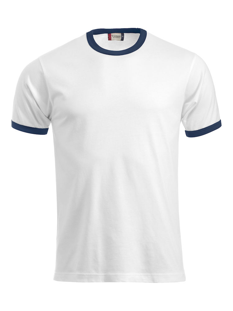 Classic Nome T-shirt wit/navy