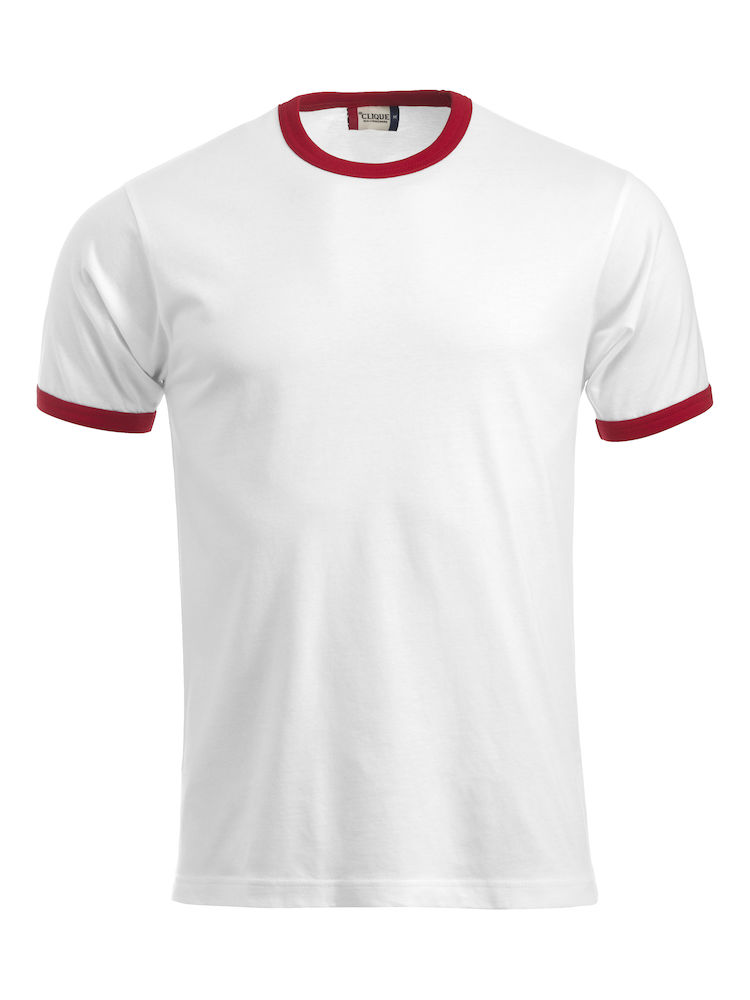 Classic Nome T-shirt wit/rood